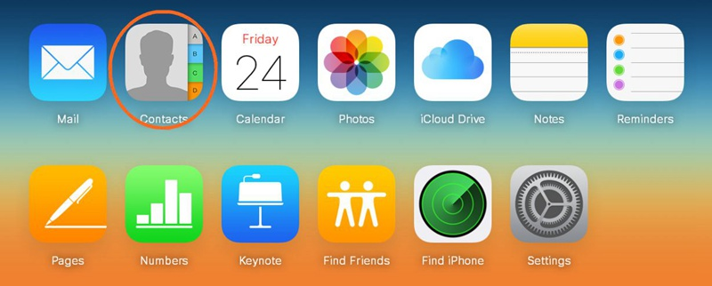 Choose Contacts from iCloud