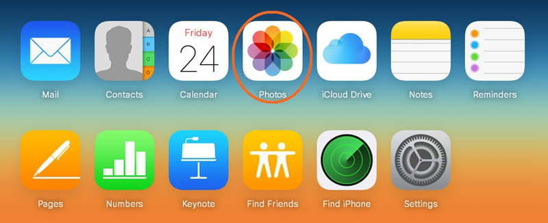 Choose Photos from iCloud