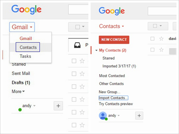 Import Gmail Contacts to Android