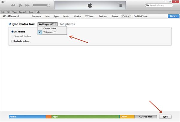 iTunes Photos Sync
