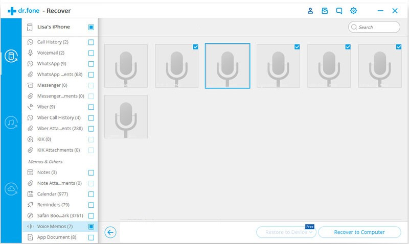 Recover Voice Memos Iphone