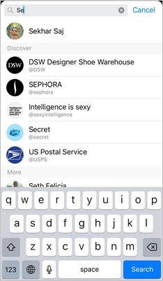iPhone Facebook Search Contact