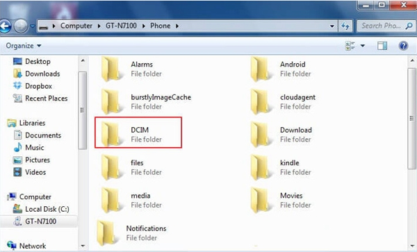 Android DCIM Folder