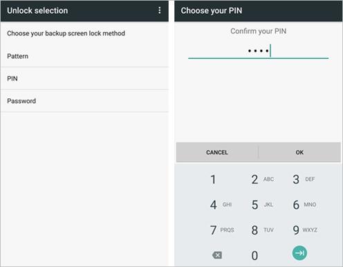 Samsung Add Fingerprint Backup PIN