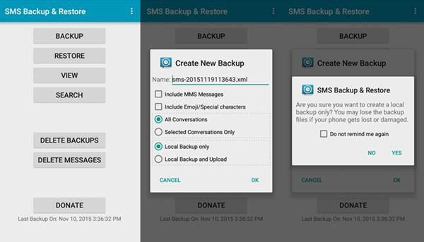 SMS Backup Resetore App