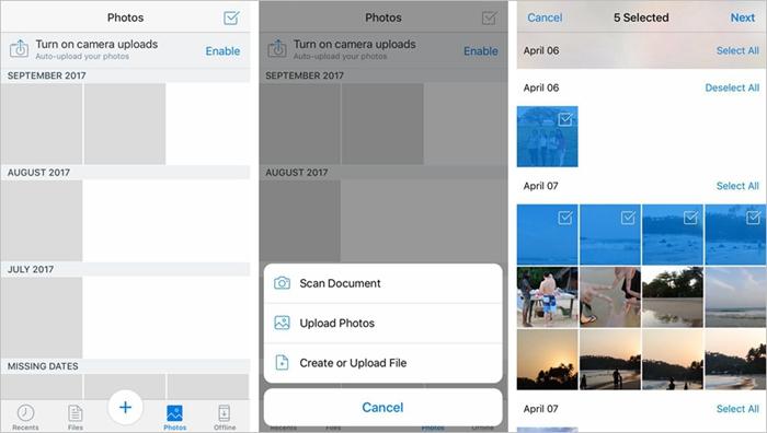iOS Dropbox Upload Photo