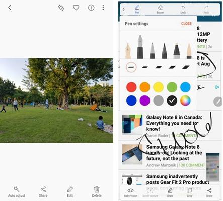Samsung S Pen Screenshot