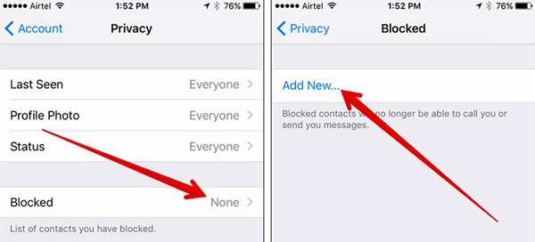 WhatsApp Block Contact iPhone 2