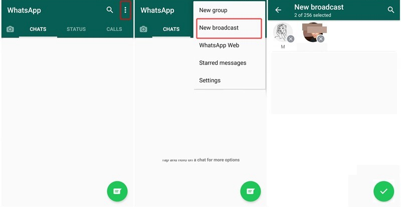 WhatsApp Broadcast Android 1