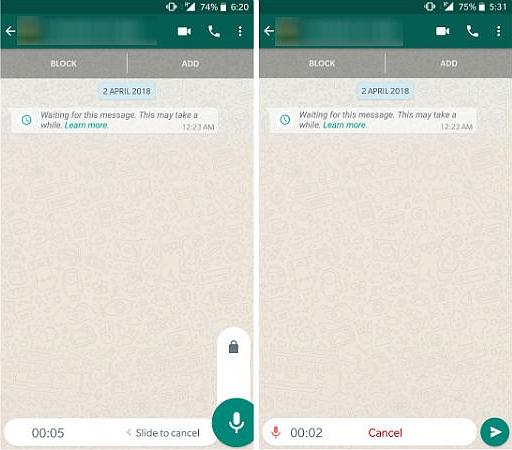 WhatsApp Long Voice Message 2