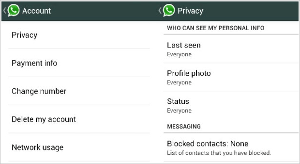 WhatsApp Privacy Settings 1