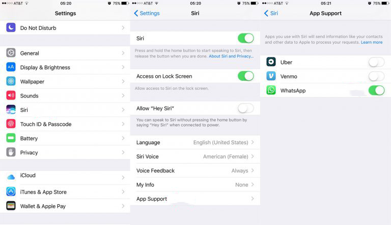 WhatsApp Siri 1