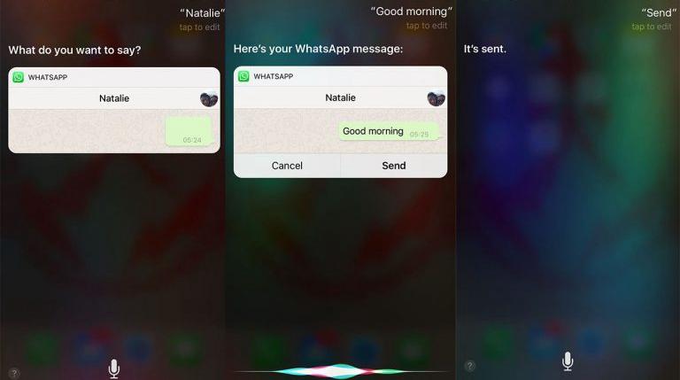 WhatsApp Siri 3