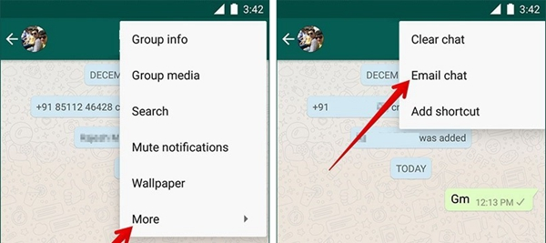 Email WhatsApp Chat Android 2