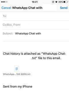 Email WhatsApp Chat iPhone 2