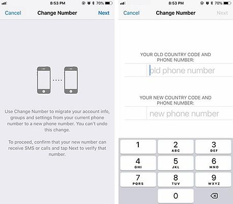 WhatsApp Change Phone Nubmer 2
