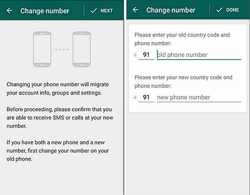 WhatsApp Change Phone Nubmer 4