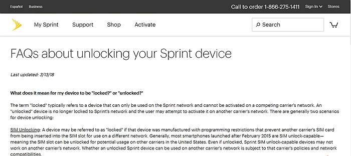 Unlock Sprint iPhone 2