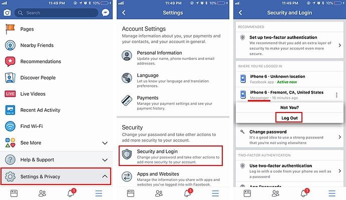 Facebook Delete Message 3