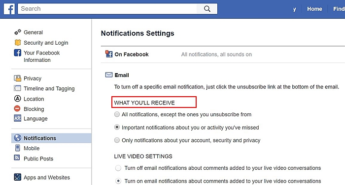 Facebook Notification 1