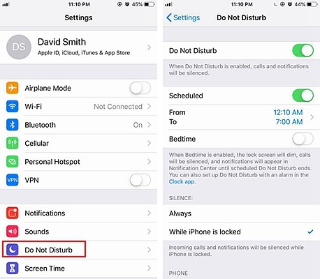 iPhone Do Not Disturb 2