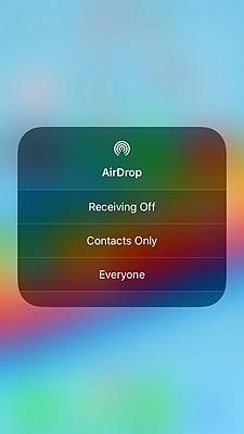 iPhone AirDrop 2