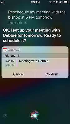 iPhone Calendar 2