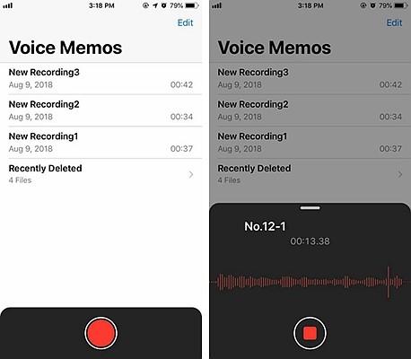 iPhone Voice Memos 2