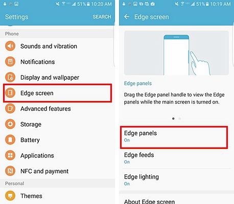Samsung Edge Panel 1