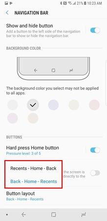 Samsung Galaxy Navigation Bar 4