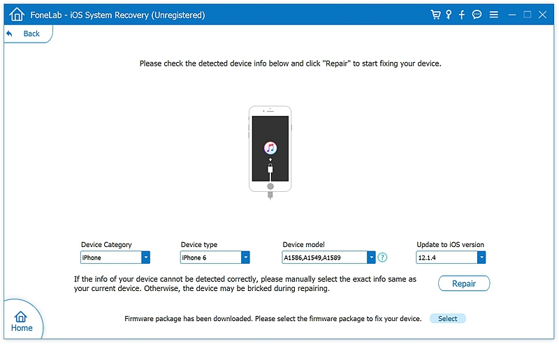 fl iOS System Recover 5