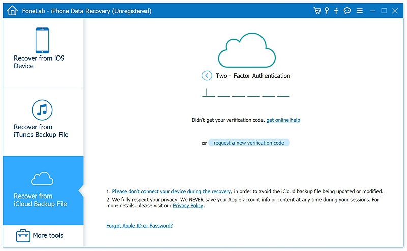 fl Recover from iCloud Backup File 2