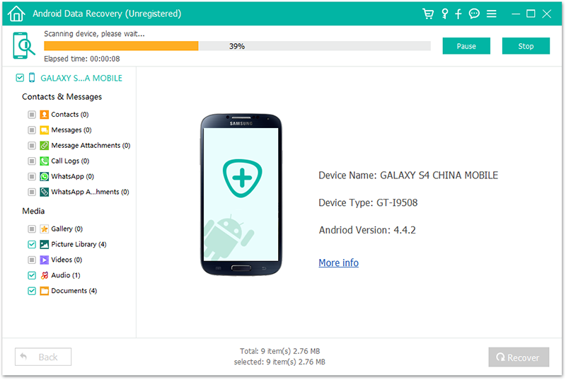 FL Android Data Recovery 6
