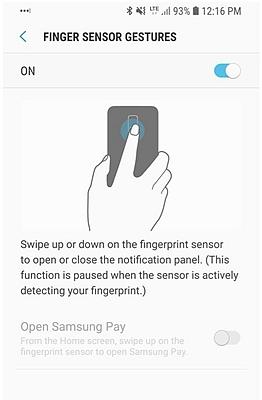Samsung S9 Fingerprint Gesture 3
