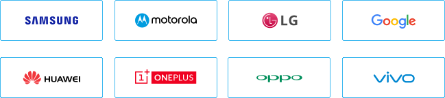 Samsung Moto LG Google Huawei OnePlus Oppo Vivo