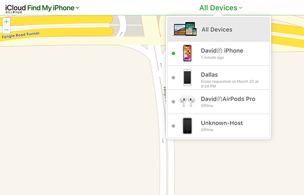 Find My iPhone Remove Device 2