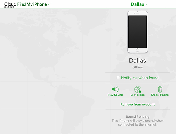 Find My iPhone Remove Device 3